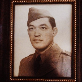 Rohan's maternal Grandfather who is half-Chinese, Joe, in his military uniform.